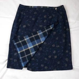 Handmade Reversible Wrap Skirt size 8